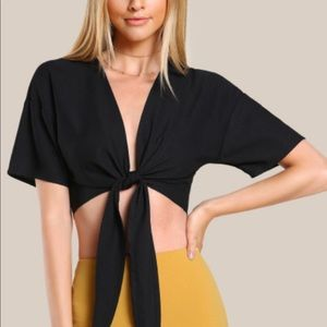 Boho Chic Front Plunging Top/Shrug